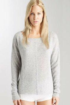 Petra Off the Shoulder - Extra long skinny sleeves balance out this slightly oversized dolman pullover. The sexy-but-casual neckline and simulated denim seams is a Suss signature.
