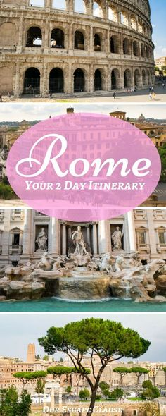 Looking for the perfect 2 days in Rome itinerary? Follow our itinerary to see Rome's best sites--including the Colosseum, the Vatican, the Roman Forum, the Pantheon, the Trevi Fountain, and more in just 2 days! #italy #rome #europe#travel #traveltheworld #itinerary #romeitinerary #italytrip