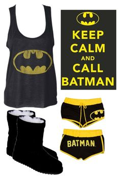 """""""Batman Pajamas!"""" by emo-gyrlz ❤ liked on Polyvore featuring Vegetarian Shoes"""