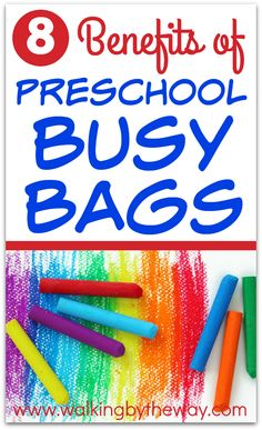 Why should you make busy bags? Because you can keep your preschooler happy and learning with preschool busy bags! Play Therapy Activities, Kids Travel Activities, Preschool Activities, Toddler Learning, Fun Learning, Toddler Busy Bags, Activity Bags, Learning Letters, Busy Book