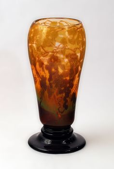 ** Simon Gate (Swedish, 1883-1945), Orrefors, Graal Glass Vase.