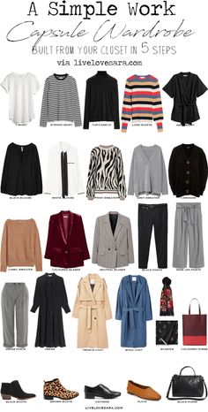 A simple Capsule Wardrobe in 5 Some what Easy Steps | Capsule wardrobe | capsule | teacher capsule wardrobe | work wardrobe | work capsule | work capsule wardrobe |
