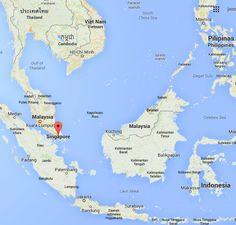 Carte de l'Asie du Sud-Est - Singapour