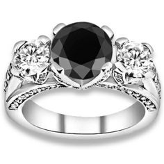 AAA Black Accent G-H Color, Diamonds Engagement Rings in Oklahoma - OK #diamondEngagementRing #engagementrings #Rings #Ring  #jewelry @pricepointshop
