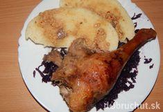 Fotorecept: Pomaly pečená hus - Pečenie trvá dlho, ale výsledok stojí za to. Ale, Pork, Chicken, Meat, Recipes, Pork Roulade, Beer, Ale Beer, Pigs