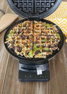 How to Make Perfectly-Cooked Loaded Hash Browns in a Waffle Iron.