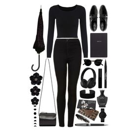 """Please Leave Me Alone"" by ayuaninditam ❤ liked on Polyvore featuring Topshop, Dear Frances, Building Block, Bynd Artisan, Beats by Dr. Dre, Trish McEvoy, Miss Selfridge, Stephen Dweck, Montblanc and Holly's House"