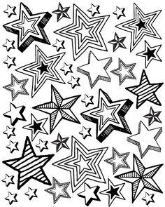 patriotic star party printable coloring page