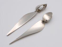 Rare Original Earrings Designed by Nanna Ditzel for Georg Jensen Denmark c.1960