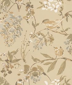Penglai Soft Gold wallpaper by Nina Campbell - a beautifully textured paper aj
