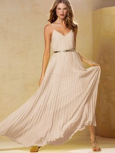 Knife-pleat Maxi Dress #VictoriasSecret