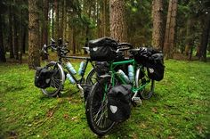 Bikes in a German Forest by goingslowly