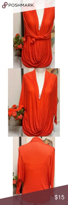 Jennifer Lopez Cowl Neck Orange Blouse Gorgeous orange blouse! Size small. 95% Rayon 5% Spandex. Questions are welcomed. Jennifer Lopez Tops Blouses