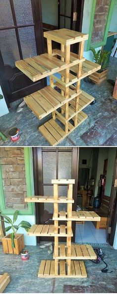 35 Pallet storage Furniture With Shelf Pallet shelf The post 35 Pallet storage Furniture With Shelf appeared first on Pallet Ideas. Pallet Ideas Easy, Diy Pallet Projects, Wood Projects, Woodworking Projects, Furniture Projects, Diy Pallet Sofa, Pallet Storage, Pallet Shelves, Reclaimed Wood Furniture