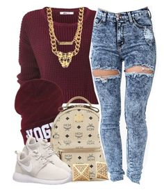 """""""Starting to get cold"""" by lulu-foreva ❤ liked on Polyvore featuring MCM and NIKE"""