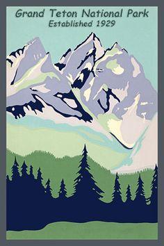 Grand Teton National Park Serigraph