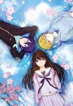 Noragami ノラガミ Yato, Hiyori e Yukine Anime Noragami, Noragami Bishamon, Manga Anime, Yato And Hiyori, Manga Art, Anime Art, Haikyuu Anime, I Love Anime, Awesome Anime