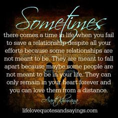 Sometimes there comes a time in life when you fail to save a relationship despite all your efforts because some relationships are not meant to be. They are meant to fall apart because maybe some people are not meant…Read more › Distance Love, Heartbreak Hotel, Comes A Time, Falling Apart, Hopeless Romantic, Love Words, Relationship Quotes, Relationships, Read More