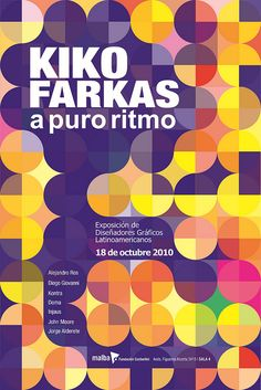 Poster: Designer Promotion Kiko Farkas to perform at the MALBA: Fifth Design Work Dots Design, Layout Design, Design Art, Print Design, Graphic Design Posters, Graphic Design Typography, Graphic Design Illustration, Serious Game, Promotional Design