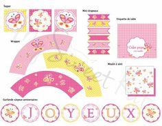 Kit à imprimer Thème #Papillon #sweettable #butterfly #printable