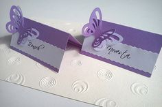 Butterfly Party, Wedding Goals, Diy Cards, Art Pictures, Tablescapes, Place Cards, Table Settings, Cricut, Paper Crafts