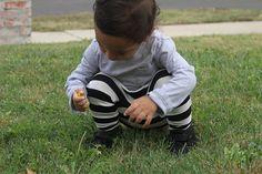 Baby Boy Baby Girl schwarz und weiß gestreiften von MEandREEKIE
