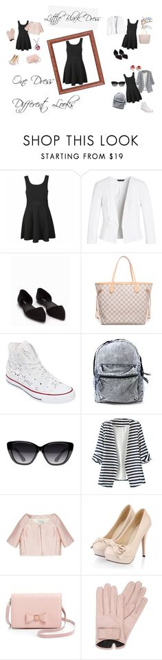 """""""Little Black Dress"""" by illusionbyandre on Polyvore featuring Ally Fashion, White House Black Market, Nly Shoes, Louis Vuitton, Converse, Elizabeth and James, WithChic, Valentino, Ted Baker and Mario Portolano"""