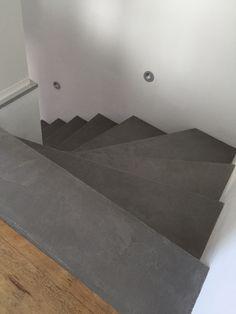 Beton Cire Treppe Vinyl fugenlos