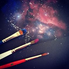 Image result for galaxy painting
