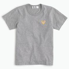 We're obsessed with this playful, quirky line dreamed up by Japanese designer Rei Kawakubo, the founder of cult-favorite label Comme des Garçons. Sporty separates—like this classic T-shirt—feature the brand's signature cheeky heart logo designed by New York-based graphic artist Filip Pagowski. <ul><li>Slim fit.</li><li>Body length:</li><li>Cotton.</li><li>Machine wash.</li><li>Import.</li></ul>