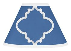 Sweet Jojo Designs Trellis Blue and White Lamp Shade available at TinyTotties.com #tinytotties #kidsroomdecor