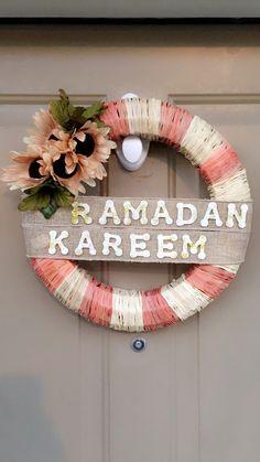 Easy DIY Ramadan wreath.. All items from Dollar Tree!