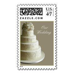 Cream Wedding Cake Stamps #wedding#cake#ideas