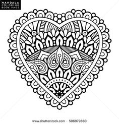 Find Flower Mandala Vintage Decorative Elements Oriental stock images in HD and millions of other royalty-free stock photos, illustrations and vectors in the Shutterstock collection. Mandala Drawing, Mandala Tattoo, Mandala Book, Mandala Oriental, Indian Mandala, Coloring Book Pages, Coloring Sheets, Tattoo Painting, Sacred Geometry Art