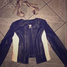 Leather Jacket  Like new!! Worn twice and in great condition! Halogen Jackets & Coats
