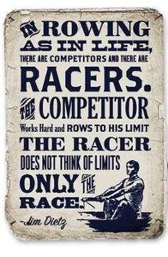 It's the race that counts, the rest doesn't matter
