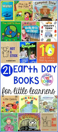 Earth Day Books for Little Learners – Pocket of Preschool Earth Day book list little learners (preschool, pre-k, and kindergarten) filled with my favorite Earth Day books for circle time. Preschool Books, Preschool Classroom, In Kindergarten, April Preschool, Earth Day Projects, Earth Day Crafts, Earth Day Activities, Spring Activities, Therapy Activities