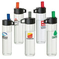 18 oz. borosilicate #glass #waterbottle w/ loop #giveaway Minimum order 48, $7.68 each