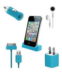 Take a look at this Vibe Blue Ultimate Mobile Set for iPhone/iPod by DGL Group on #zulily today!