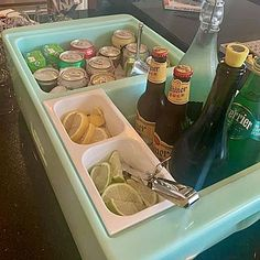 Cocktails For Parties, Wine Parties, Tailgate Bar, Tailgating, Bloody Mary Bar, Beer Bucket, Beverage Tub, Best Gifts For Him, Bar Set Up
