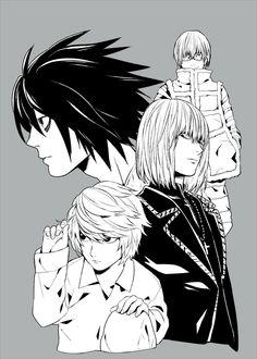 Death note : L - Mello - Near - Matt Death Note Near, Death Note デスノート, Tokyo Ghoul, Goblin, Death Note Fanart, Death Note Cosplay, Nate River, L Lawliet, Book Works