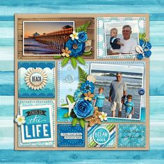 digital scrapbook layout using Great Outdoors: Oasis by Kristin Cronin-Barrow | Great Outdoors: Oasis Cards by Kristin Cronin-Barrow | EZ Albums v.10 by Erica Zane | EZ Albums v.10 Stitches by Erica Zane