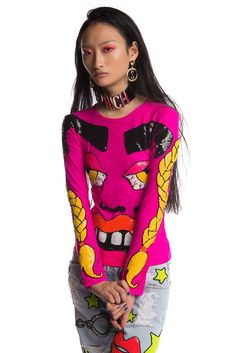 Image of FACE OFF SEQUINNED LONG SLEEVE