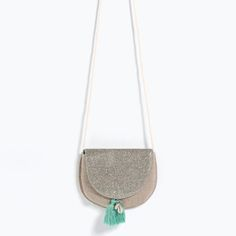 Image 1 of GLITTER TASSEL BAG from Zara