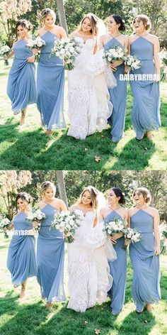 Chiffon A-line Backless Spaghetti Straps Sleeveless Bridesmaid Dress, Affordable Bridesmaid Dresses, Bridesmaid Dress Colors, Blue Bridesmaids, Wedding Bridesmaid Dresses, Wedding Gowns, Best Friend Bridesmaid, Inexpensive Prom Dresses, Mermaid Dresses, Special Occasion Dresses