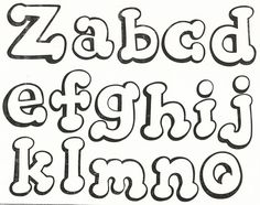 Tos Tipos Letras Bonitas Abecedario 604 X 480 43 Kb Jpeg Hand Lettering Alphabet, Doodle Lettering, Graffiti Alphabet, Creative Lettering, Lettering Styles, Typography Fonts, Alphabet Templates, Alphabet Stencils, Alphabet Design