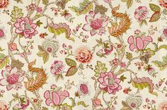 Flower Fabric Floral Fabric Botanical Print Fabric by RoomKandi