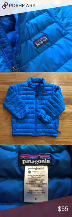 Boys Patagonia Down Sweater 4T Boys Patagonia Down Sweater size 4t.   Good used condition no rips or stains.   Mild wash wear. Patagonia Jackets & Coats Puffers