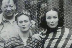 Foto: Diego Rivera, Frida Kahlo y la actriz Dolores del Río
