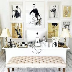 Workspace home interior design inspiration. Desk bedroom goals fashion office